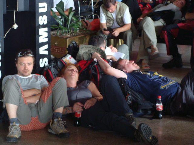 Airport wait
